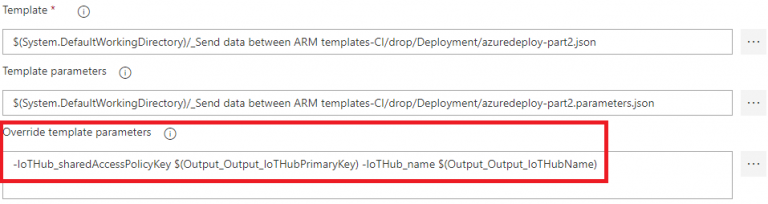 Using values from your ARM template across your Azure DevOps